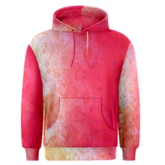 Abstract Red And Gold Ink Blot Gradient Men s Pullover Hoodie