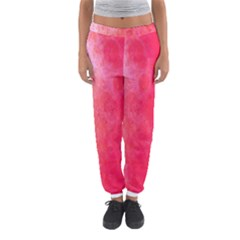 Abstract Red And Gold Ink Blot Gradient Women s Jogger Sweatpants