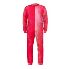 Abstract Red And Gold Ink Blot Gradient OnePiece Jumpsuit (Kids)