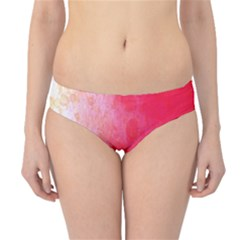 Abstract Red And Gold Ink Blot Gradient Hipster Bikini Bottoms