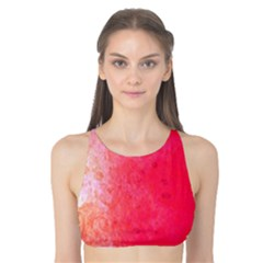Abstract Red And Gold Ink Blot Gradient Tank Bikini Top