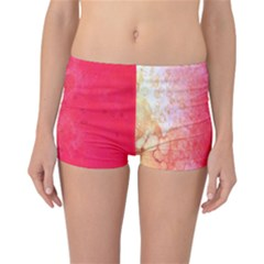 Abstract Red And Gold Ink Blot Gradient Reversible Bikini Bottoms