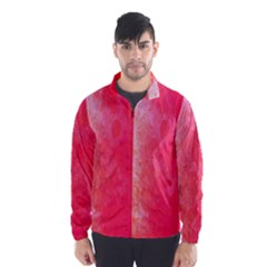 Abstract Red And Gold Ink Blot Gradient Wind Breaker (men)