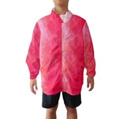 Abstract Red And Gold Ink Blot Gradient Wind Breaker (kids)