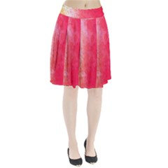 Abstract Red And Gold Ink Blot Gradient Pleated Skirt
