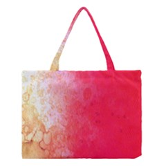Abstract Red And Gold Ink Blot Gradient Medium Tote Bag