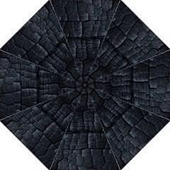 Black Burnt Wood Texture Straight Umbrellas