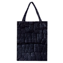 Black Burnt Wood Texture Classic Tote Bag