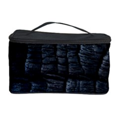 Black Burnt Wood Texture Cosmetic Storage Case