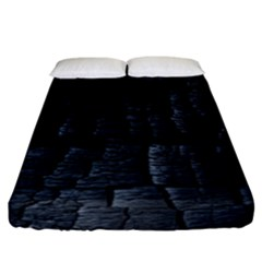 Black Burnt Wood Texture Fitted Sheet (king Size)
