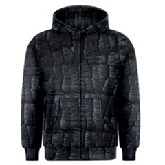 Black Burnt Wood Texture Men s Zipper Hoodie