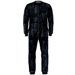 Black Burnt Wood Texture Onepiece Jumpsuit (men)