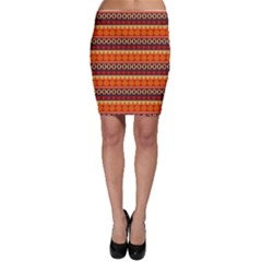 Abstract Lines Seamless Art  Pattern Bodycon Skirt