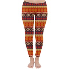 Abstract Lines Seamless Art  Pattern Classic Winter Leggings