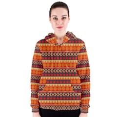 Abstract Lines Seamless Art  Pattern Women s Zipper Hoodie