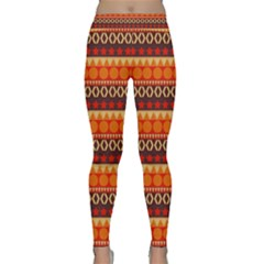 Abstract Lines Seamless Art  Pattern Classic Yoga Leggings