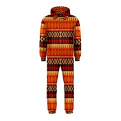 Abstract Lines Seamless Art  Pattern Hooded Jumpsuit (Kids)