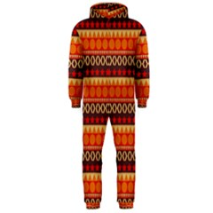 Abstract Lines Seamless Art  Pattern Hooded Jumpsuit (men)