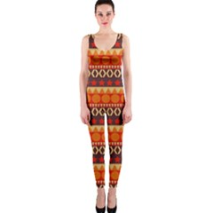Abstract Lines Seamless Art  Pattern Onepiece Catsuit