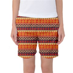 Abstract Lines Seamless Art  Pattern Women s Basketball Shorts