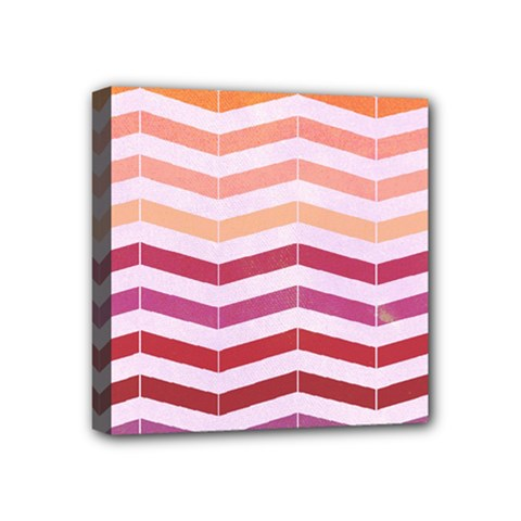 Abstract Vintage Lines Mini Canvas 4  X 4
