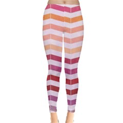Abstract Vintage Lines Leggings