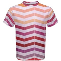 Abstract Vintage Lines Men s Cotton Tee