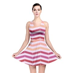 Abstract Vintage Lines Reversible Skater Dress