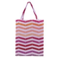 Abstract Vintage Lines Classic Tote Bag