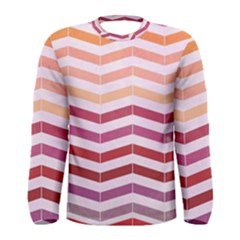 Abstract Vintage Lines Men s Long Sleeve Tee