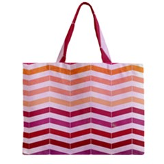 Abstract Vintage Lines Zipper Mini Tote Bag