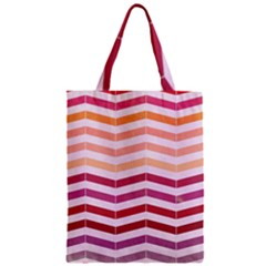 Abstract Vintage Lines Zipper Classic Tote Bag