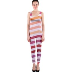 Abstract Vintage Lines Onepiece Catsuit