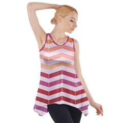 Abstract Vintage Lines Side Drop Tank Tunic