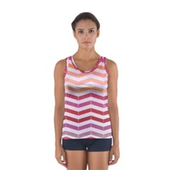 Abstract Vintage Lines Women s Sport Tank Top