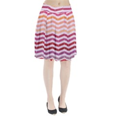 Abstract Vintage Lines Pleated Skirt