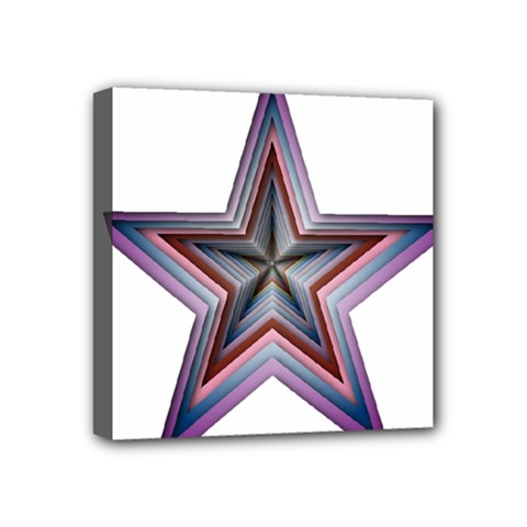 Star Abstract Geometric Art Mini Canvas 4  X 4
