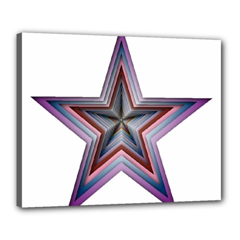 Star Abstract Geometric Art Canvas 20  X 16