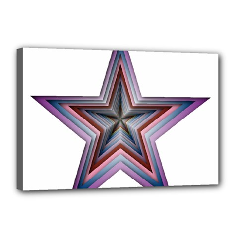 Star Abstract Geometric Art Canvas 18  x 12