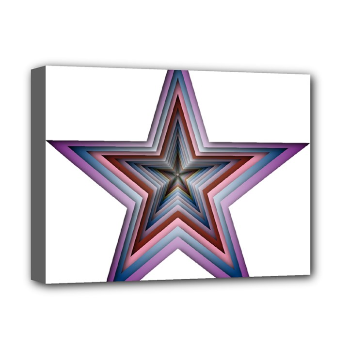 Star Abstract Geometric Art Deluxe Canvas 16  x 12
