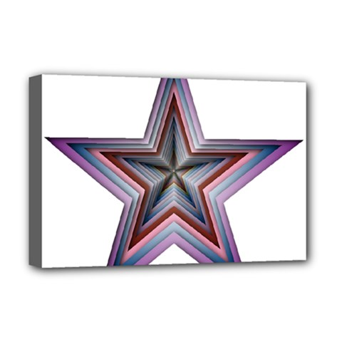 Star Abstract Geometric Art Deluxe Canvas 18  x 12