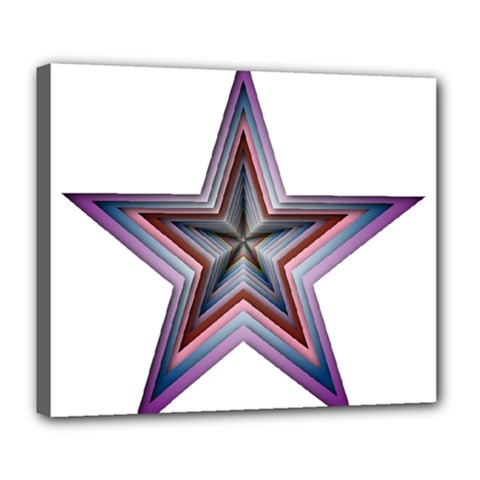 Star Abstract Geometric Art Deluxe Canvas 24  X 20