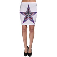 Star Abstract Geometric Art Bodycon Skirt