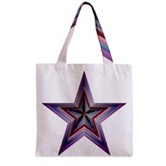 Star Abstract Geometric Art Grocery Tote Bag