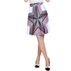 Star Abstract Geometric Art A Line Skirt