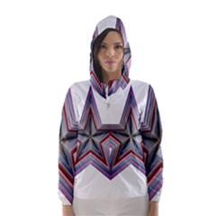 Star Abstract Geometric Art Hooded Wind Breaker (Women)