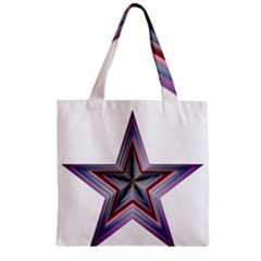 Star Abstract Geometric Art Zipper Grocery Tote Bag