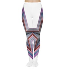 Star Abstract Geometric Art Women s Tights