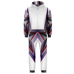 Star Abstract Geometric Art Hooded Jumpsuit (Men)