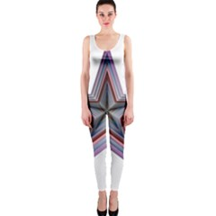 Star Abstract Geometric Art Onepiece Catsuit